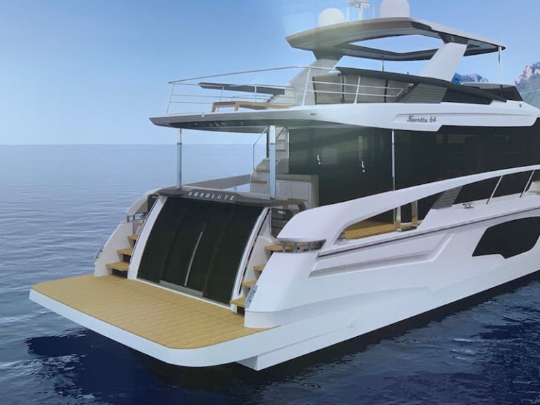 Absolute Navetta 64, section arrière