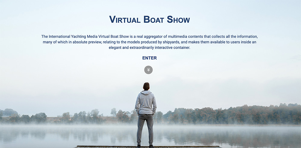 virtual boat show, page d'accueil