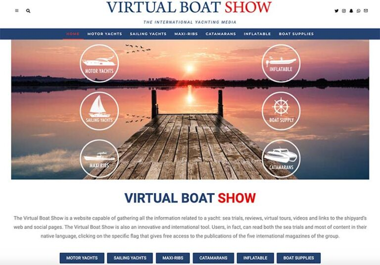 Virtual Boat Show page d'accueil