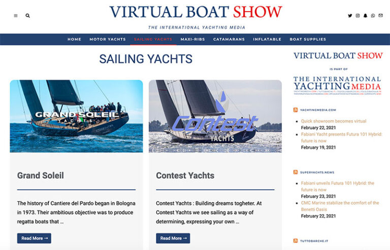 Virtual Boat Show page voiliers